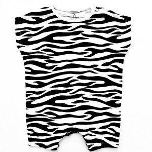 Next Co. Zebra Stripped Baby Romper